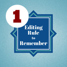 1 Editing Rule to Remember