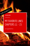 Favorite Lines from SANYARE: Chapters 11 –15